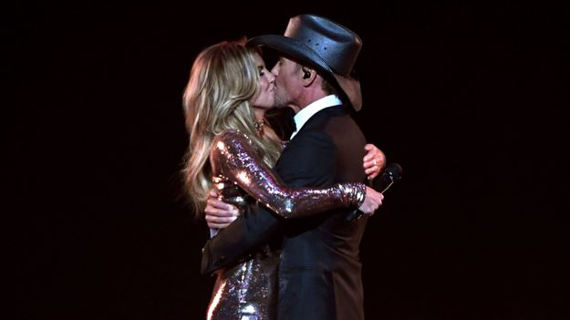 Tim McGraw Sings Wife's Praises