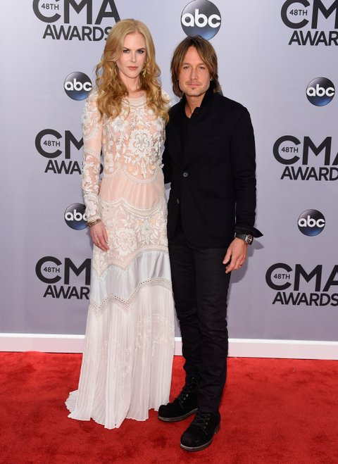 Nicole Kidman and Keith Urban at the 2014 CMA Awards