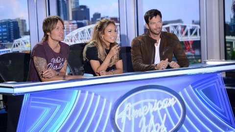 Keith Urban, Jennifer Lopez and Harry Connick Jr.