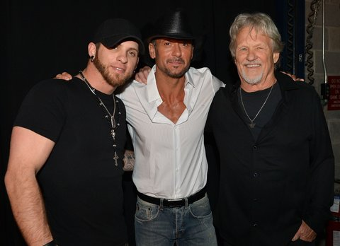 Brantley Gilbert, Tim McGraw and Kris Kristofferson