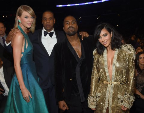 Taylor Swift, Jay-Z, Kanye West and Kim Kardashian