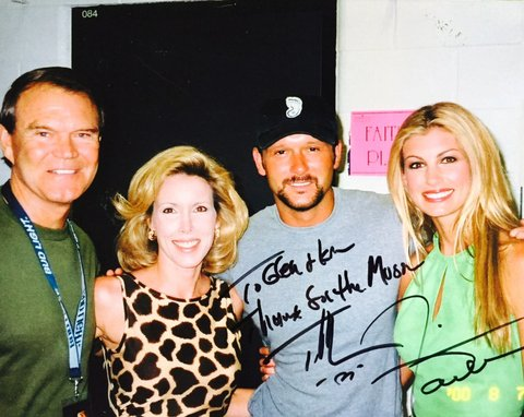 Glen Campbell (left), Kim Campbell, Tim McGraw and Faith Hill