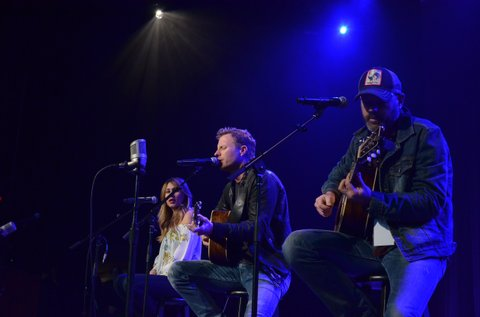 Jessi Alexander (left), Dierks Bentley and Jon Randall