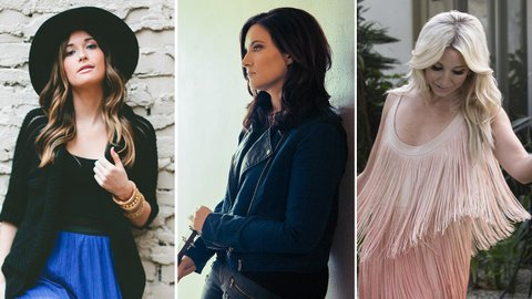 Kacey Musgraves (left), Brandy Clark and Ashley Monroe