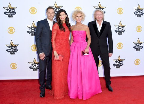 Little Big Town brings the fashion with vibrant gowns and classic suits.