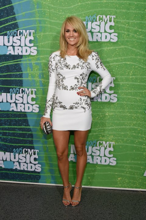 Carrie Underwood attends the 2015 CMT Music Awards on June 10, 2015, in Nashville.