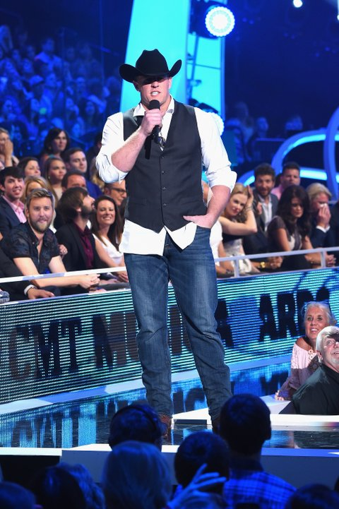 JJ Watt presents at the 2015 CMT Music Awards on June 10, 2015, in Nashville.