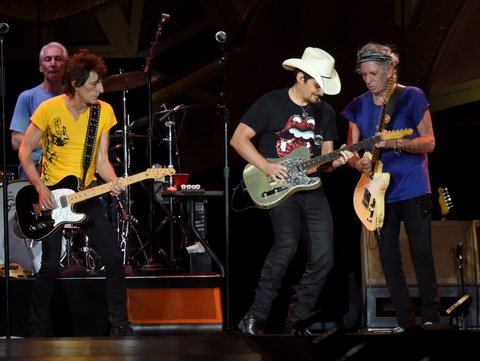 Ron Wood, Brad Paisley, Keith Richards
