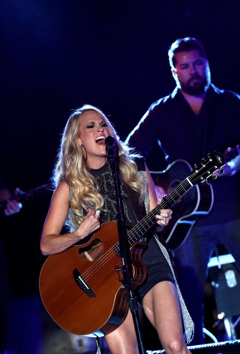 ATLANTA, GA - SEPTEMBER 18:  Carrie Underwood performs a surprise pop-up concert as part of CMT Instant Jam on September 18, 2015 in Atlanta, GA. The concert premieres October 17 at 10/9c on CMT.  (Photo by Rick Diamond/Getty Images for CMT)