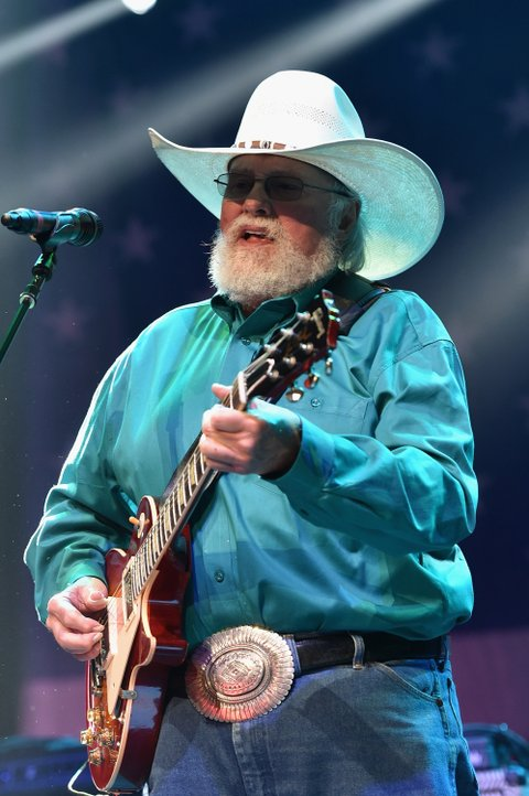 NASHVILLE, TN - AUGUST 12:  Charlie Daniels performs at the Charlie Daniels 2015 Volunteer Jam at Bridgestone Arena on August 12, 2015 in Nashville, Tennessee.  (Photo by John Shearer/Getty Images for Webster Public Relations)