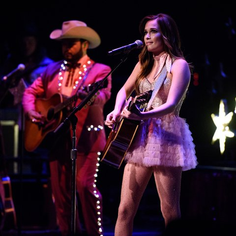 NEW YORK, NY - OCTOBER 24:  Kacey Musgraves performs live on stage for 'The Kacey Musgraves Country & Western Rhinestone Revue' at The Apollo Theater on October 24, 2015 in New York City.  (Photo by Matthew Eisman/Getty Images)