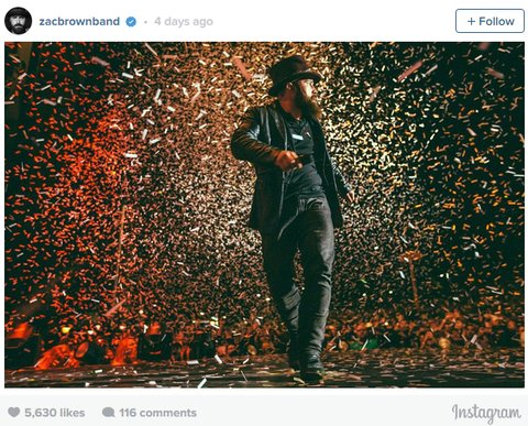Zac Brown Band Instagram