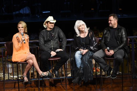 attends The Country Music Hall Of Fame & Museum All For The Hall New York Benefit Concert press conference at PlayStation Theater on October 6, 2015 in New York City.
