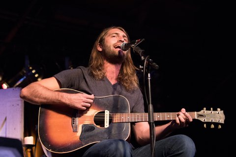 CHICAGO, IL - JULY 30:  Ryan Hurd performs on stage during the CMA Songwriters Series at Joe's Bar on July 30, 2015 in Chicago, Illinois.  (Photo by Gabriel Grams/Getty Images)
