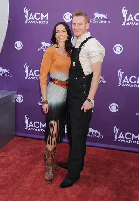 LAS VEGAS, NV- APRIL 07: Rory Lee Feek and Joey Martin Feek arrives at the 48th Annual Academy of Country Music Awards at the MGM Grand Garden Arena on April 7, 2013 in Las Vegas, Nevada.(Photo by Jeffrey Mayer/WireImage)