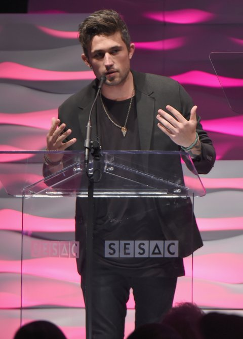 Michael Ray onstage during the SESAC 2015 Nashville Music Awards at Country Music Hall of Fame and Museum on November 1, 2015 in Nashville, Tennessee.