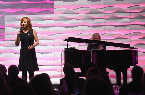 NASHVILLE, TN - NOVEMBER 01:  Reba McEntire performs onstage during the SESAC 2015 Nashville Music Awards at Country Music Hall of Fame and Museum on November 1, 2015 in Nashville, Tennessee.  (Photo by Michael Loccisano/Getty Images for SESAC)