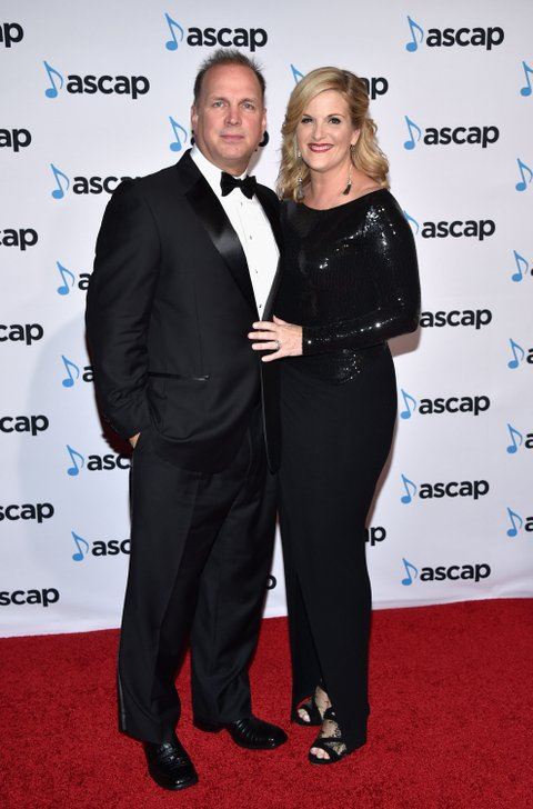Garth Brooks and Trisha Yearwood attend the 53rd annual ASCAP Country Music awards at the Omni Hotel on November 2, 2015 in Nashville, Tennessee.