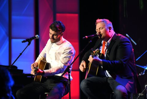 Josh Osborne and Sam Hunt attend the 53rd annual ASCAP Country Music awards at the Omni Hotel on November 2, 2015 in Nashville, Tennessee.