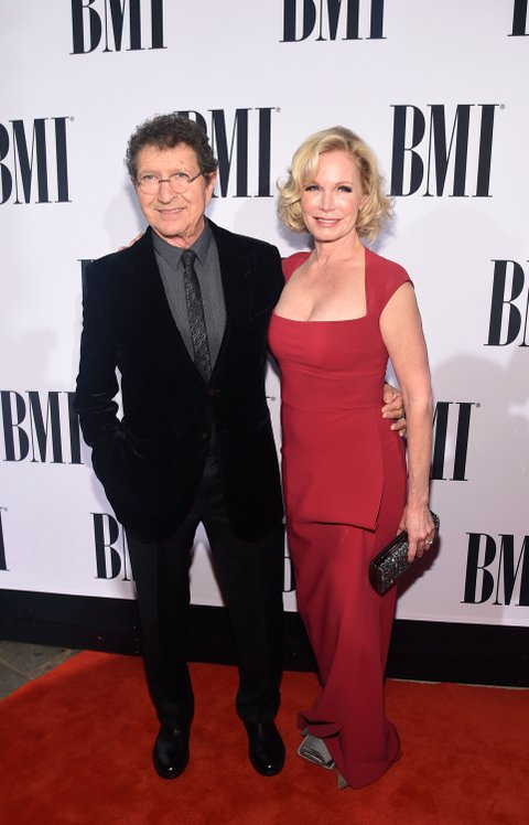 NASHVILLE, TN - NOVEMBER 03: Honoree Mac Davis (L) and Lise Gerard attend the 63rd Annual BMI Country awards on November 3, 2015 in Nashville, Tennessee.  (Photo by Michael Loccisano/Getty Images)