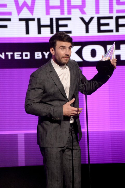 Sam Hunt onstage during the 2015 American Music Awards at Microsoft Theater on November 22, 2015 in Los Angeles, California.
