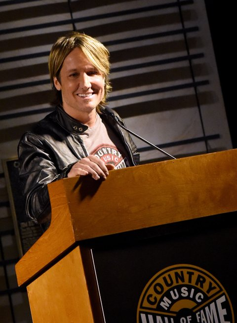 NASHVILLE, TN - DECEMBER 01:  Musician Keith Urban speaks during the debut of the new 'Keith Urban So Far' exhibition at Country Music Hall of Fame and Museum's CMA Theater on December 1, 2015 in Nashville, Tennessee.  (Photo by Rick Diamond/Getty Images for CMHOF)