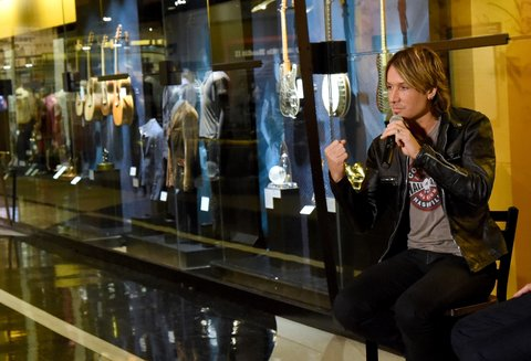 NASHVILLE, TN - DECEMBER 01: Musician Keith Urban attends the debut of the new 'Keith Urban So Far' exhibition at Country Music Hall of Fame and Museum's CMA Theater on December 1, 2015 in Nashville, Tennessee.  (Photo by Rick Diamond/Getty Images for CMHOF)