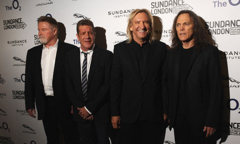 LONDON, ENGLAND - APRIL 25:Don Henley, Glenn Frey, Joe Walsh, and Timothy B. Schmit  attend the screening of 'History of The Eagles' as part of Sundance London  at Cineworld 02 Arena on April 25, 2013 in London, England.  (Photo by Ferdaus Shamim/WireImage)