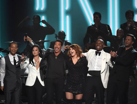 John Legend, Demi Lovato, Lionel Richie, Meghan Trainor, Tyrese Gibson and Luke Bryan