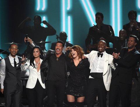 John Legend, Demi Lovato, Lionel Richie, Meghan Trainor, Tyrese Gibson and Luke Bryan