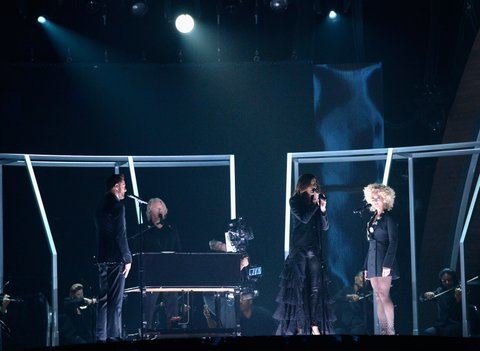 onstage during The 58th GRAMMY Awards at Staples Center on February 15, 2016 in Los Angeles, California.