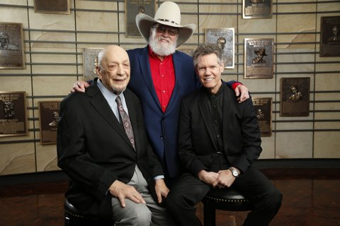2016 Country Music Hall of Fame inductees Fred Foster, Charlie Daniels and Randy Travis.
