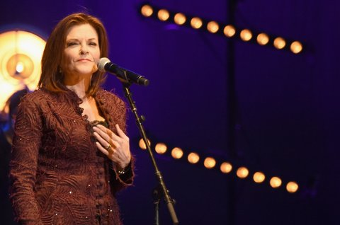 NASHVILLE, TENNESSEE - MARCH 16:  Rosanne Cash performs at The Life & Songs of Kris Kristofferson produced by Blackbird Presents at Bridgestone Arena on March 16, 2016 in Nashville, Tennessee.  (Photo by Rick Diamond/Getty Images for Essential Broadcast Media)