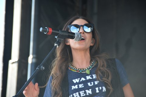 LAS VEGAS, NEVADA - APRIL 01:  Kelleigh Bannen performs during the ACM Party for a Cause Festival at the Las Vegas Festival Grounds on April 1, 2016 in Las Vegas, Nevada.  (Photo by Mindy Small/FilmMagic)