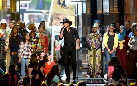 onstage during the 51st Academy of Country Music Awards at MGM Grand Garden Arena on April 3, 2016 in Las Vegas, Nevada.