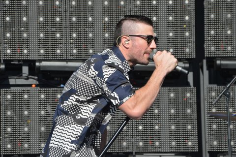 LAS VEGAS, NEVADA - APRIL 03:  Sam Hunt performs during the ACM Party for a Cause Festival at the Las Vegas Festival Grounds on April 3, 2016 in Las Vegas, Nevada.  (Photo by Mindy Small/FilmMagic)