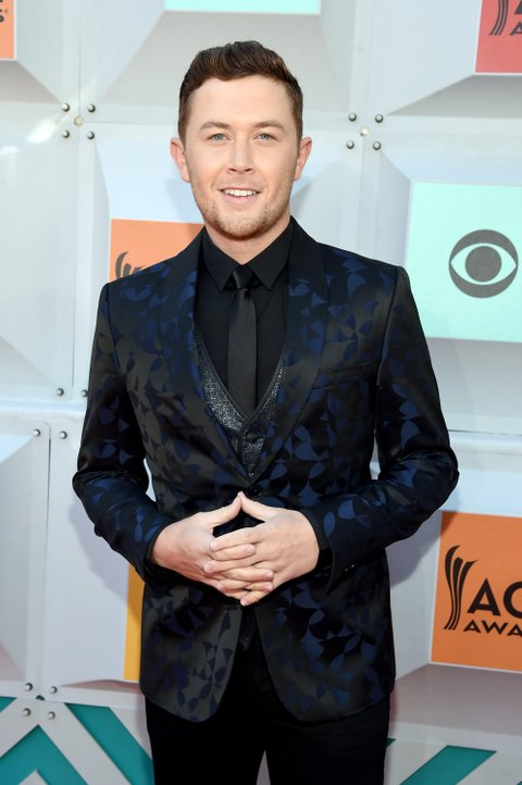 LAS VEGAS, NEVADA - APRIL 03: Recording artist Scotty McCreery attends the 51st Academy of Country Music Awards at MGM Grand Garden Arena on April 3, 2016 in Las Vegas, Nevada.