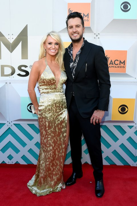 LAS VEGAS, NEVADA - APRIL 03: Caroline Boyer (L) and co-host Luke Bryan attend the 51st Academy of Country Music Awards at MGM Grand Garden Arena on April 3, 2016 in Las Vegas, Nevada. (Photo by Rick Diamond/ACM2016/Getty Images for dcp)