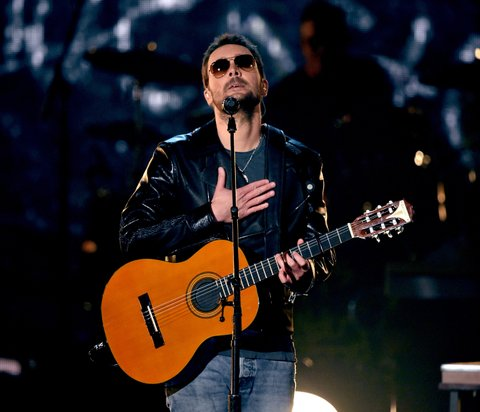 LAS VEGAS, NEVADA - APRIL 03: Recording artist Eric Church performs onstage during the 51st Academy of Country Music Awards at MGM Grand Garden Arena on April 3, 2016 in Las Vegas, Nevada.
