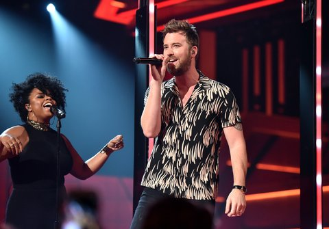 LAS VEGAS, NEVADA - APRIL 03: Recording artist Charles Kelley performs onstage during the 51st Academy of Country Music Awards at MGM Grand Garden Arena on April 3, 2016 in Las Vegas, Nevada.