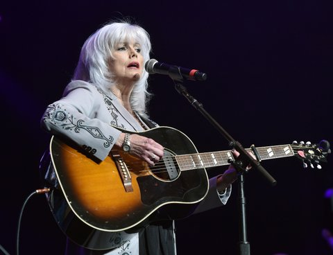 NASHVILLE, TENNESSEE - APRIL 12:  Singer-songwriter Emmylou Harris performs onstage during All For The Hall at the Bridgestone Arena on April 12, 2016 in Nashville, Tennessee.  (Photo by John Shearer/Getty Images for The Country Music Hall Of Fame & Museum)