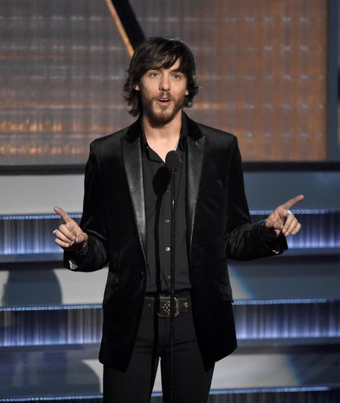 LAS VEGAS, NEVADA - APRIL 03: Recording artist Chris Janson speaks onstage during the 51st Academy of Country Music Awards at MGM Grand Garden Arena on April 3, 2016 in Las Vegas, Nevada. (Photo by Ethan Miller/Getty Images)