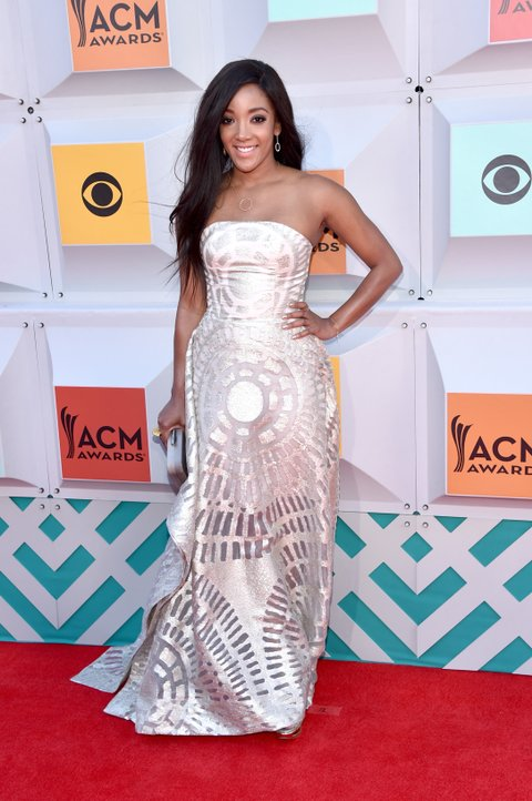 LAS VEGAS, NEVADA - APRIL 03: Singer Mickey Guyton attends the 51st Academy of Country Music Awards at MGM Grand Garden Arena on April 3, 2016 in Las Vegas, Nevada. (Photo by John Shearer/WireImage)