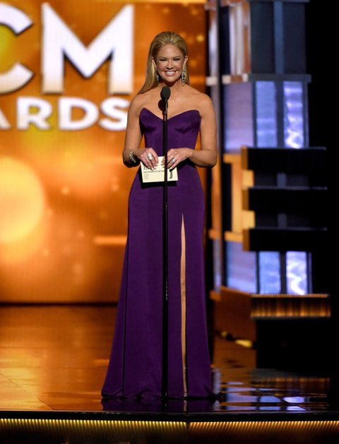 LAS VEGAS, NEVADA - APRIL 03: TV personality Nancy O'Dell speaks onstage during the 51st Academy of Country Music Awards at MGM Grand Garden Arena on April 3, 2016 in Las Vegas, Nevada. (Photo by Ethan Miller/Getty Images)