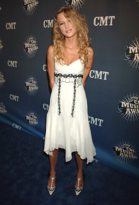 Taylor Swift during 2006 CMT Music Awards - Red Carpet at Curb Events Center at Belmont University in Nashville, Tennessee, United States. (Photo by Jeff Kravitz/FilmMagic)