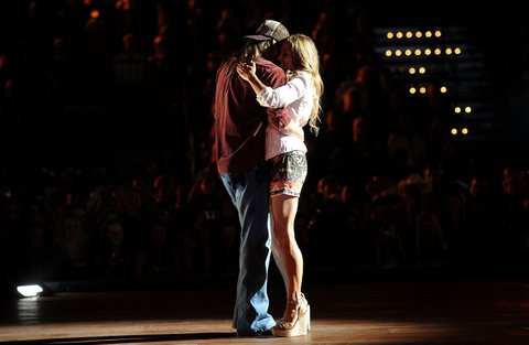 NASHVILLE, TN - JUNE 08: Musicians Kid Rock and Sheryl Crow perform on stage at the 2011 CMT Music Awards at the Bridgestone Arena on June 8, 2011 in Nashville, Tennessee. (Photo by Jason Merritt/Getty Images)