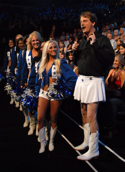 Jeff Foxworthy and the Dallas Cowboys Cheerleaders introduce award presenters (Photo by Kevin Mazur/WireImage)
