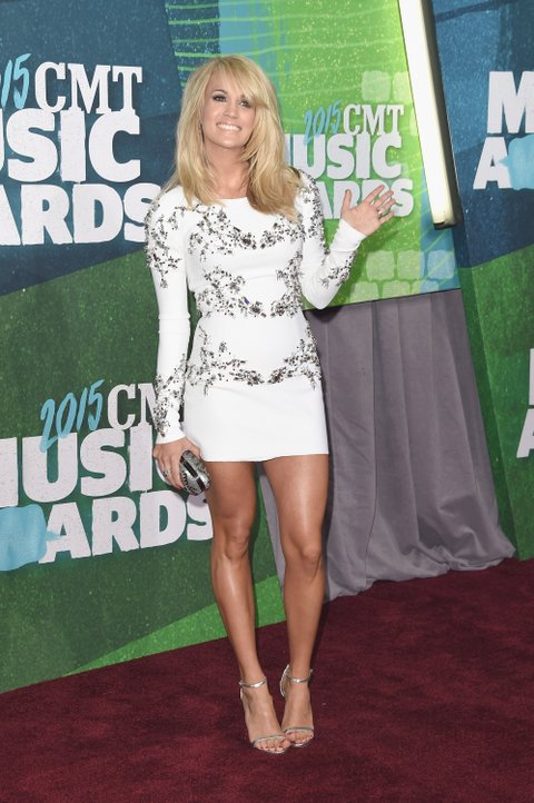 NASHVILLE, TN - JUNE 10:  Carrie Underwood attends the 2015 CMT Music awards at the Bridgestone Arena on June 10, 2015 in Nashville, Tennessee.  (Photo by Jason Merritt/Getty Images)
