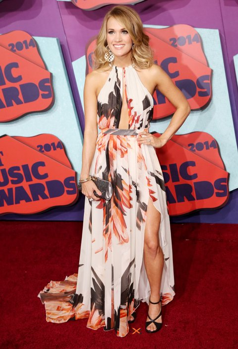 NASHVILLE, TN - JUNE 04: Carrie Underwood attends the 2014 CMT Music awards at the Bridgestone Arena on June 4, 2014 in Nashville, Tennessee.  (Photo by Terry Wyatt/FilmMagic)