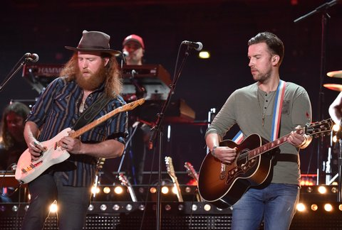 NASHVILLE, TN - JUNE 06:  John Osborne (L) and T.J. Osborne (R) of musical group Brothers Osborne perform onstage during the 2016 CMT Music Awards - Rehearsals Day 1 at Bridgestone Arena on June 6, 2016 in Nashville, Tennessee.  (Photo by Mike Coppola/Getty Images for CMT)